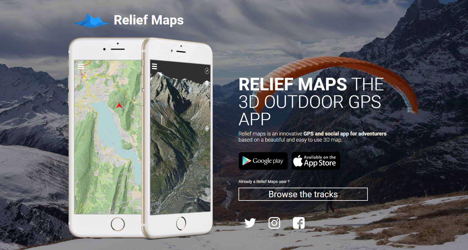 Relief Maps - GPS app for adventurers